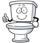 Cartoon image of a toilet bowl