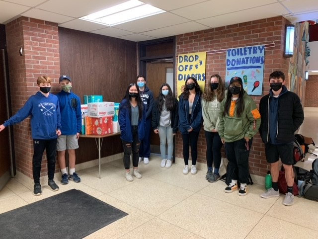 Key Club helps diaper collection