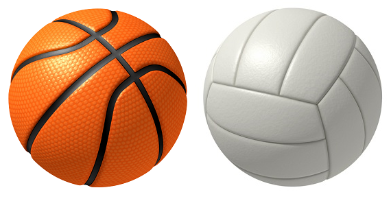 Clip art basketball and volleyball