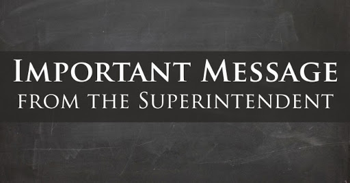 Message from the Superintendent/Mensaje del superintendente