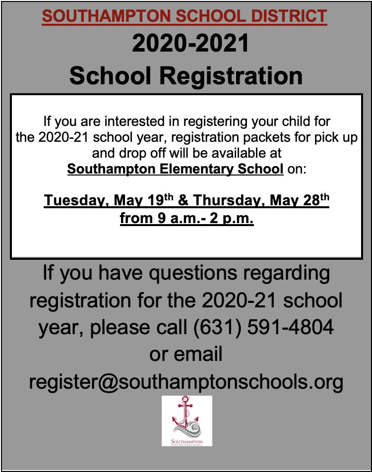 2020-2021 School Registration /Inscripción escolar 2020-2021