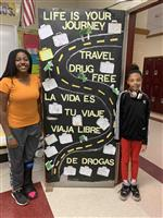 Students at Southampton Intermediate School decorated their homeroom doors during Red Ribbon Week.