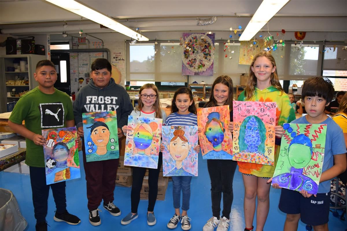 Sixth grade students at Southampton Intermediate School just completed their first art assignment