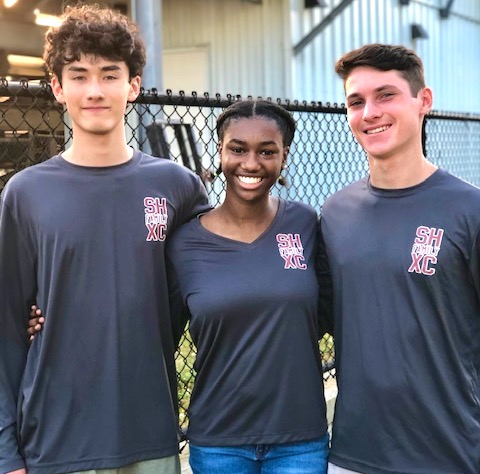 Southampton High School students (from left) Griffin Wei, Dreanne Joseph and Reece Nugent raised $8,000 through a virtual run