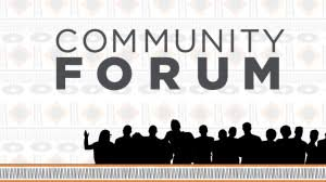 Community Forum graphic with people